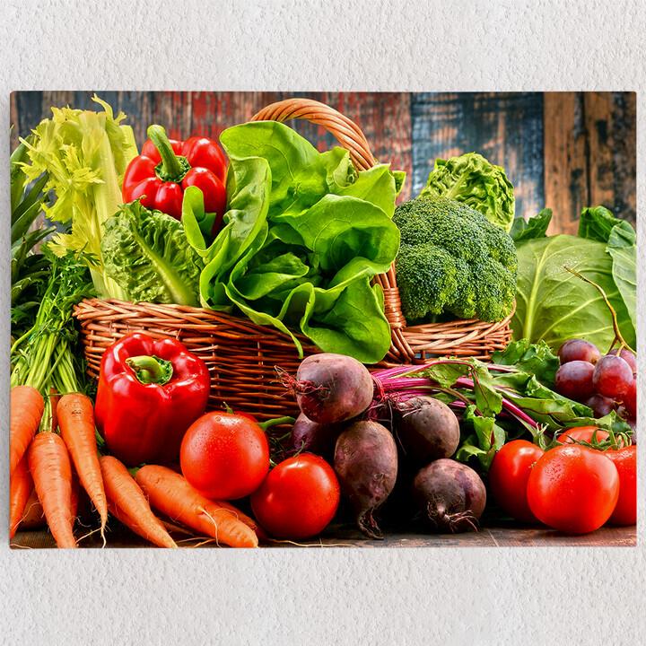 Personalisiertes Leinwandbild Gemüsesammlung