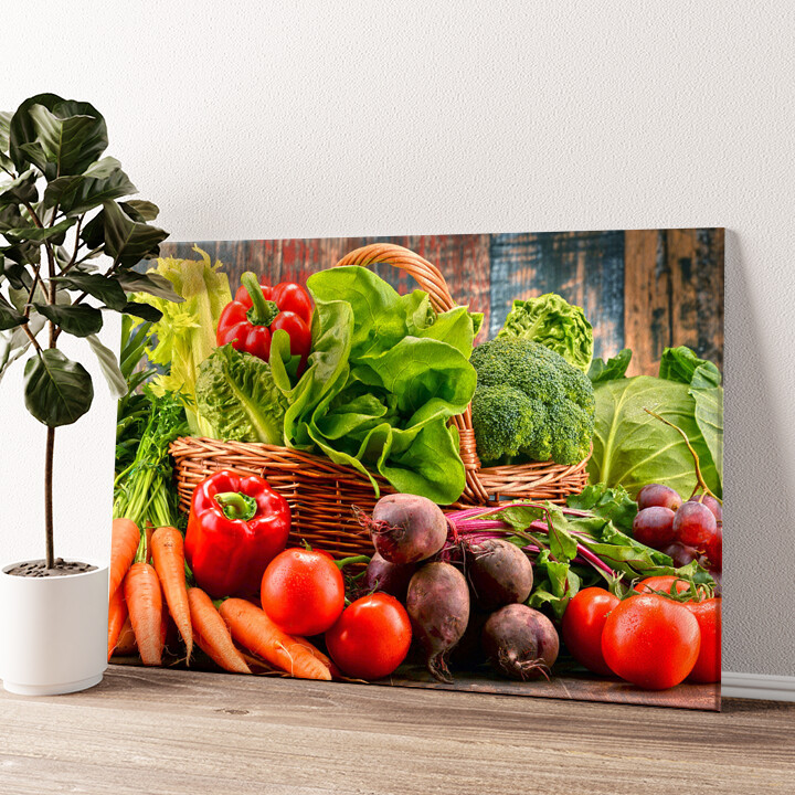Gemüsesammlung Wandbild personalisiert