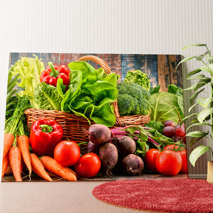 Personalisiertes Wandbild Gemüsesammlung