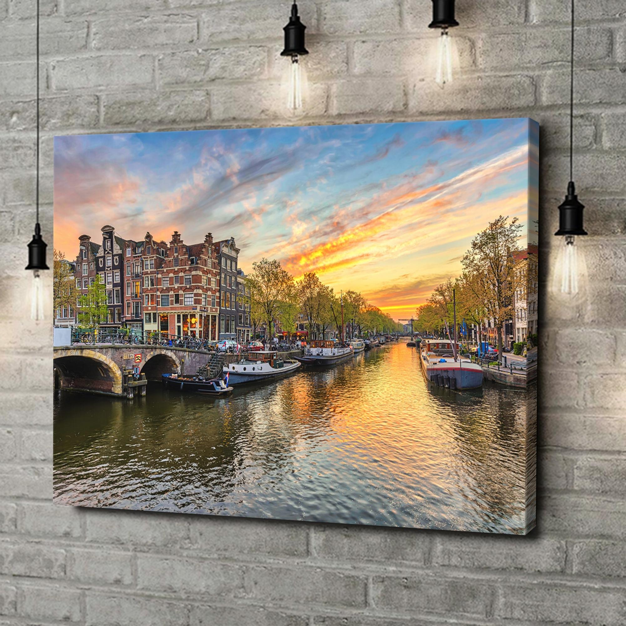 Leinwandbild personalisiert Amsterdam City