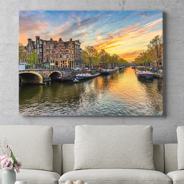 Personalisierbares Geschenk Amsterdam City
