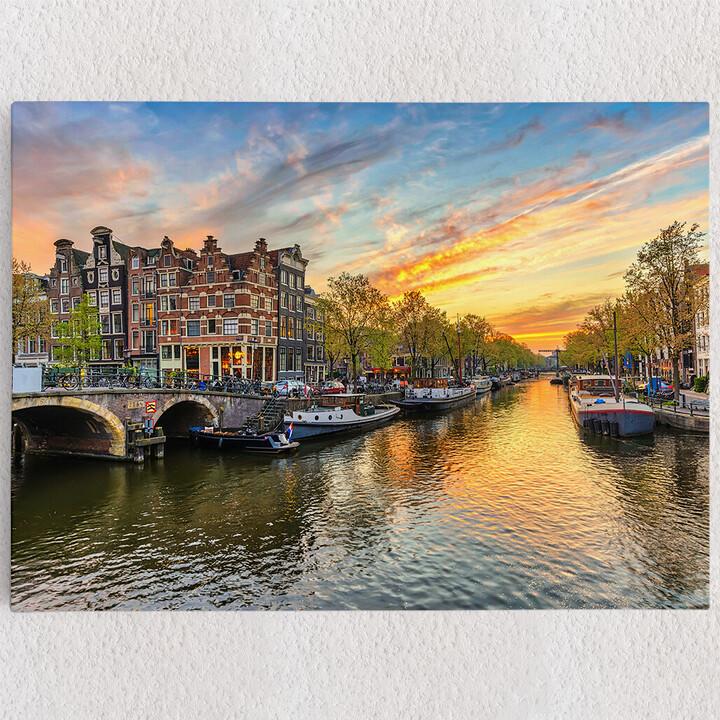 Personalisiertes Leinwandbild Amsterdam City