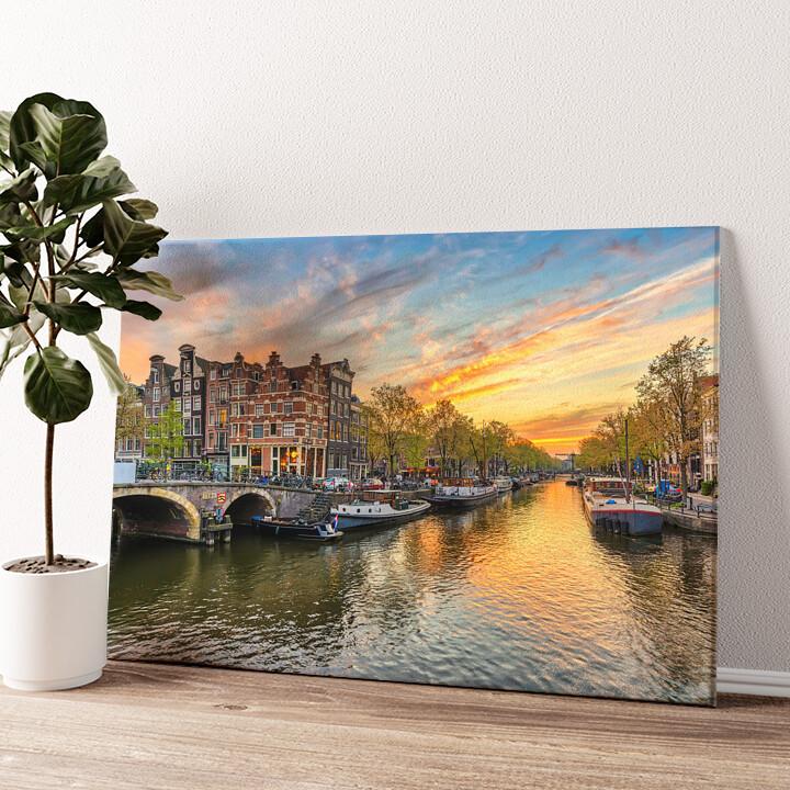 Amsterdam City Wandbild personalisiert