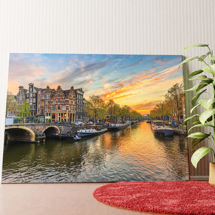 Personalisiertes Wandbild Amsterdam City