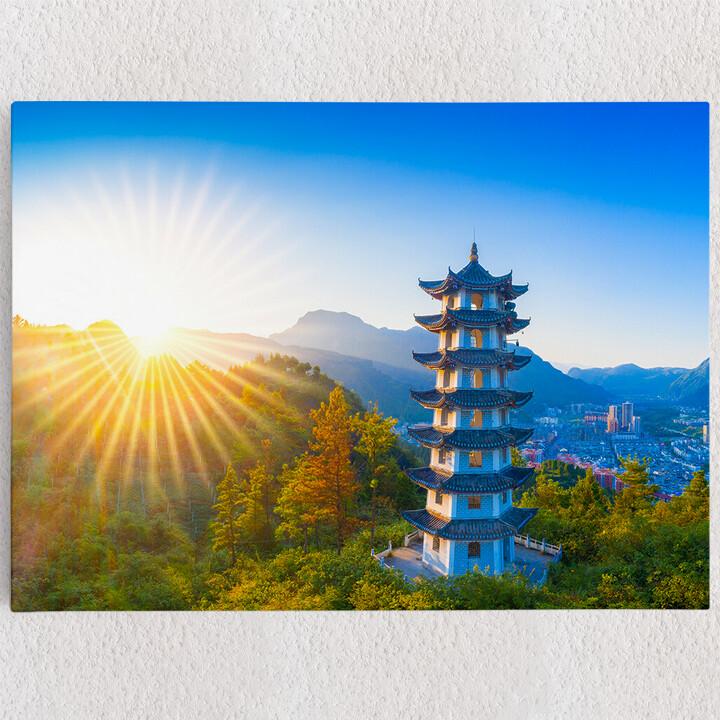 Personalisiertes Leinwandbild Jiangkou Tongren City Provinz Guizhou China