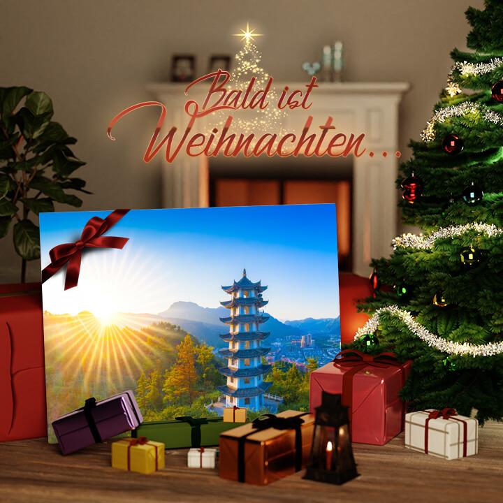 Liebesleinwand zu Weichnachten Jiangkou Tongren City Provinz Guizhou China