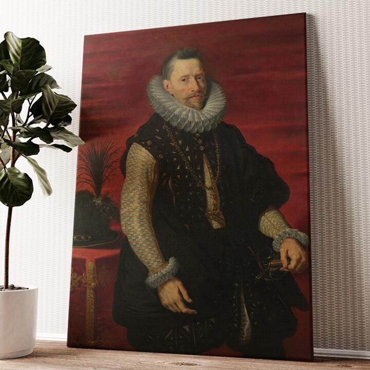 Erzherzog Albrecht VII. Wandbild personalisiert