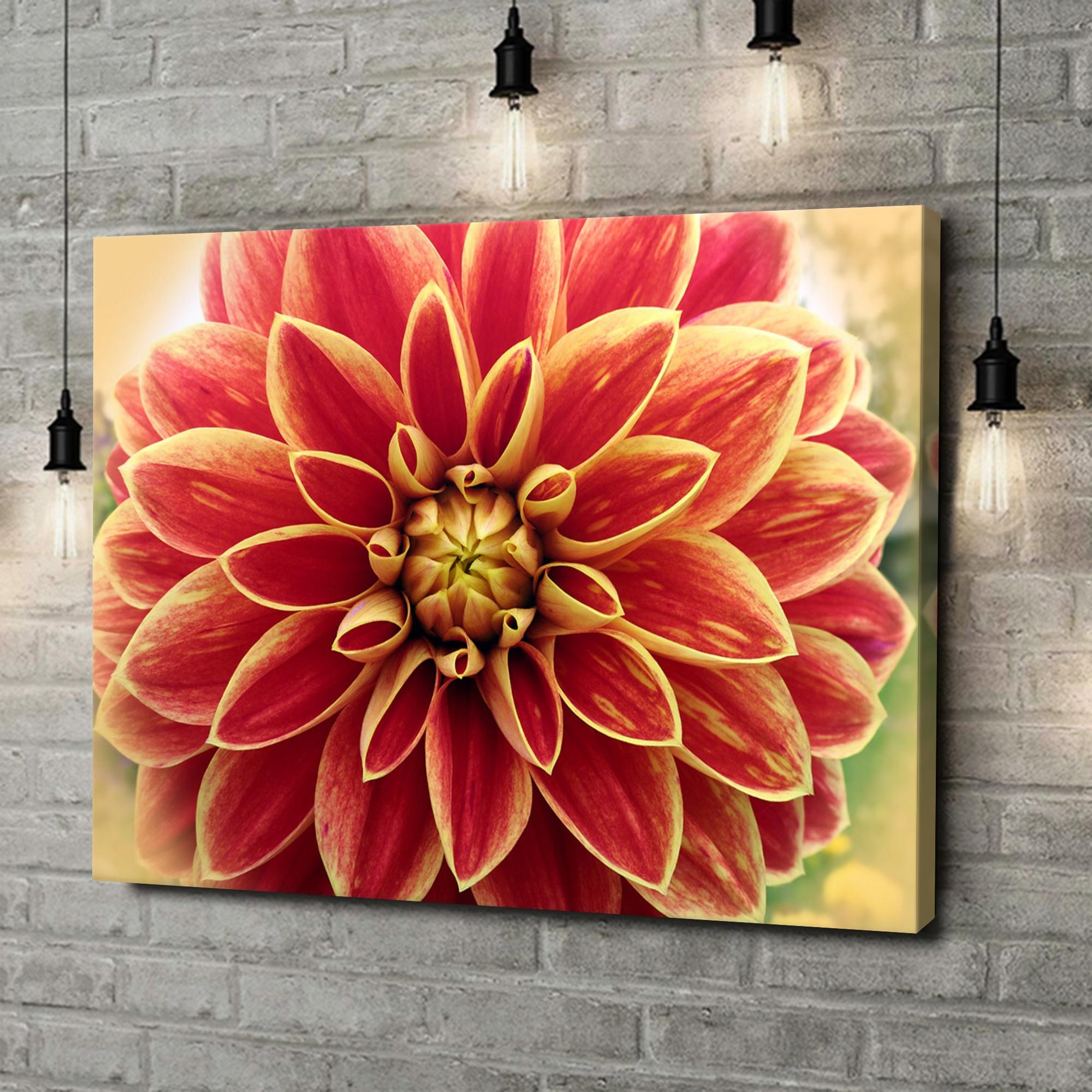 Leinwandbild personalisiert Rote Chrysantheme