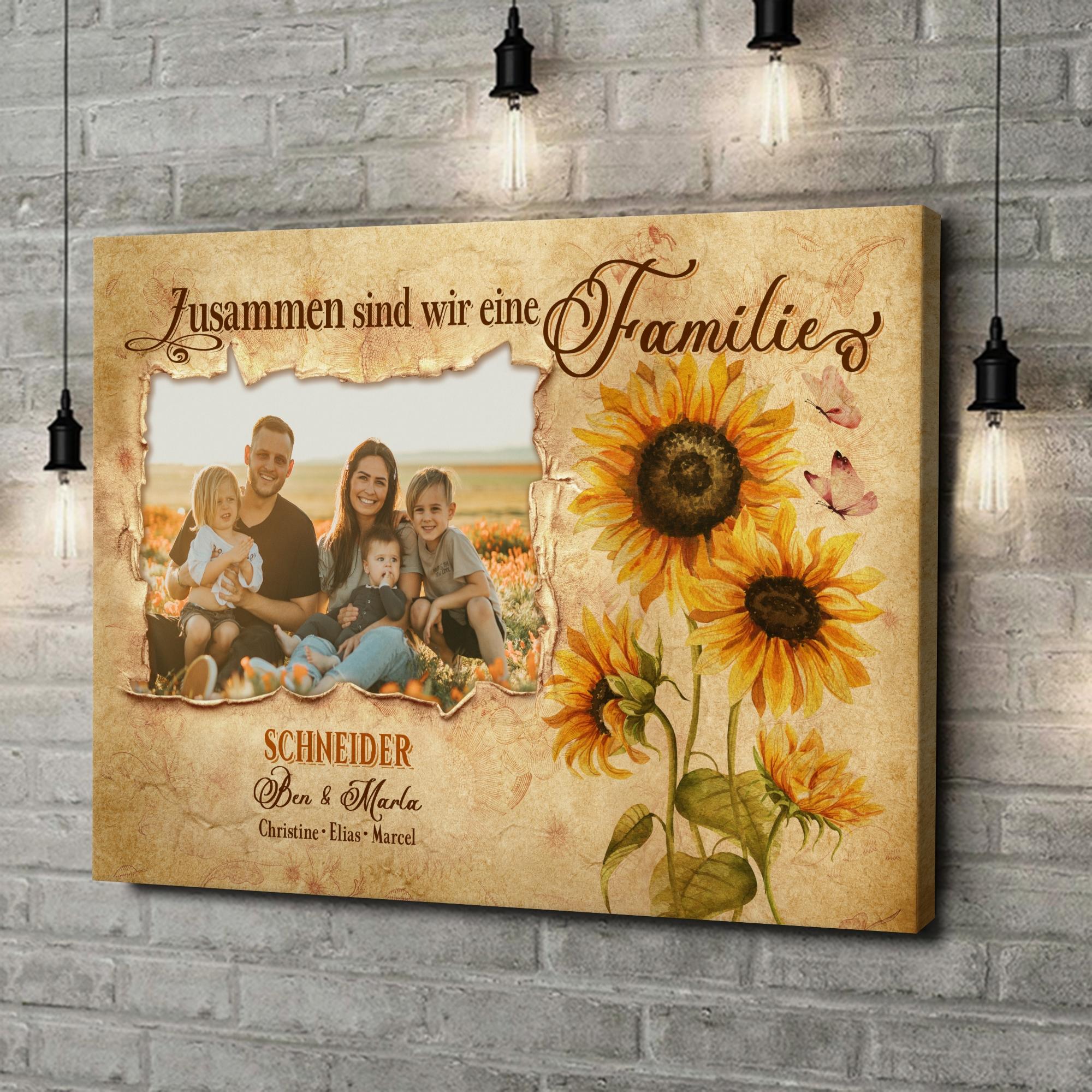 Leinwandbild personalisiert Familienbande