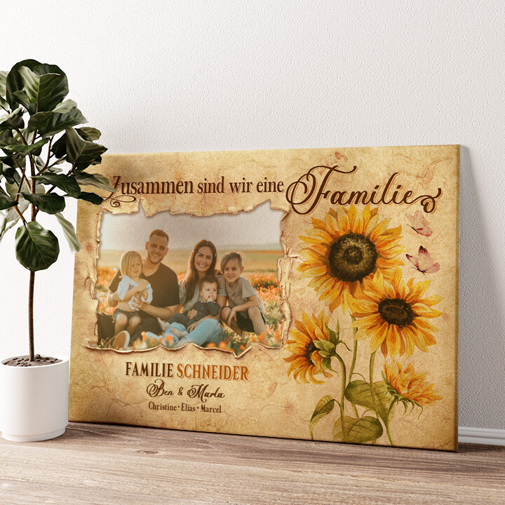 Familienbande Wandbild personalisiert