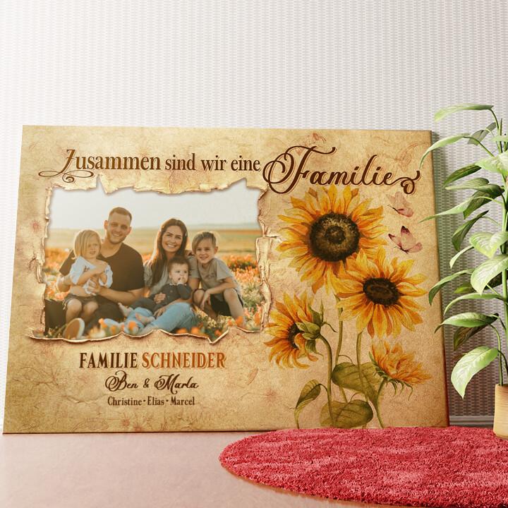 Personalisiertes Wandbild Familienbande