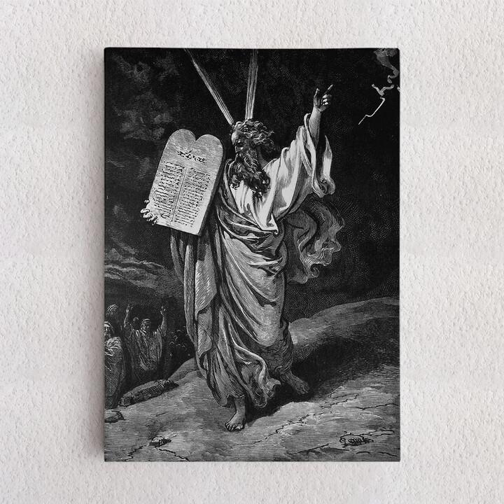 Personalisiertes Leinwandbild Moses und die 10 Gebote