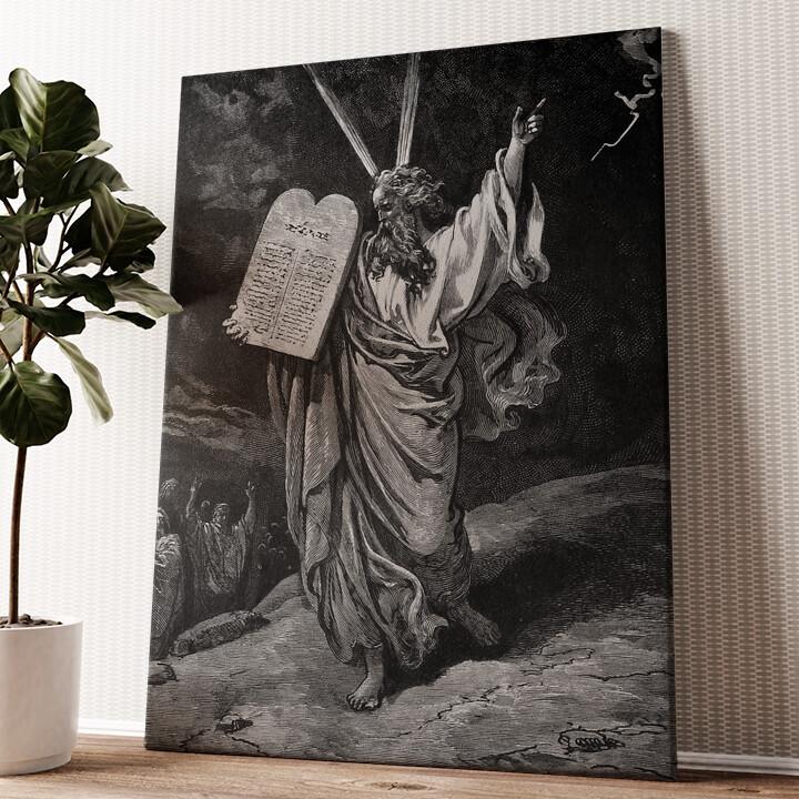 Moses und die 10 Gebote Wandbild personalisiert