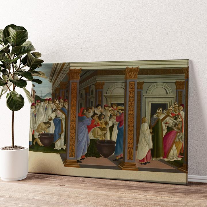 Die Taufe des heiligen Zenobius Wandbild personalisiert