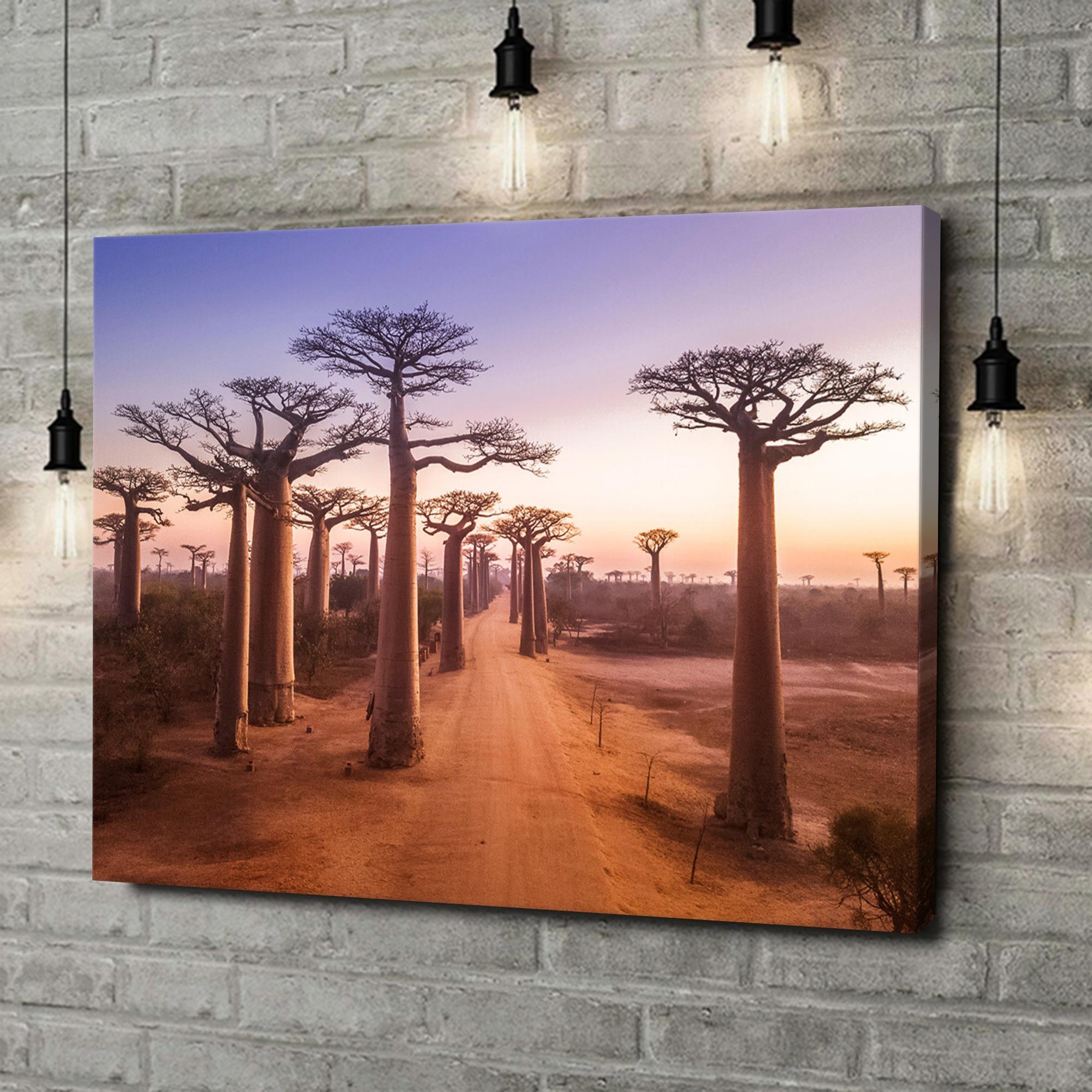 Leinwandbild personalisiert Baobab Bäume Madagaskar