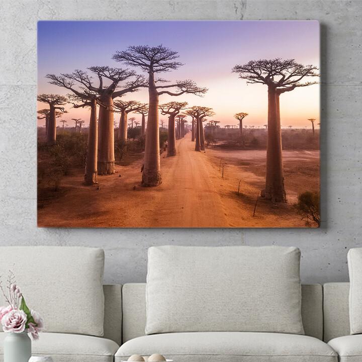 Personalisierbares Geschenk Baobab Bäume Madagaskar