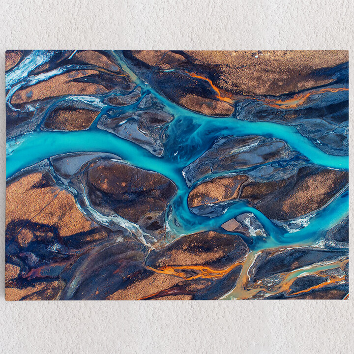 Personalisiertes Leinwandbild Island Flußlandschaft