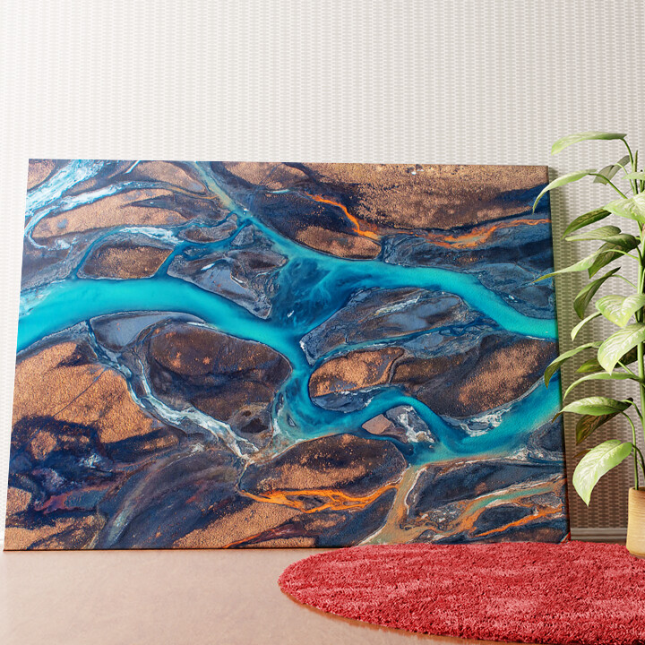 Personalisiertes Wandbild Island Flußlandschaft