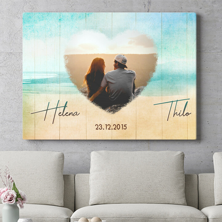 Personalisierbares Geschenk Strand der Liebe