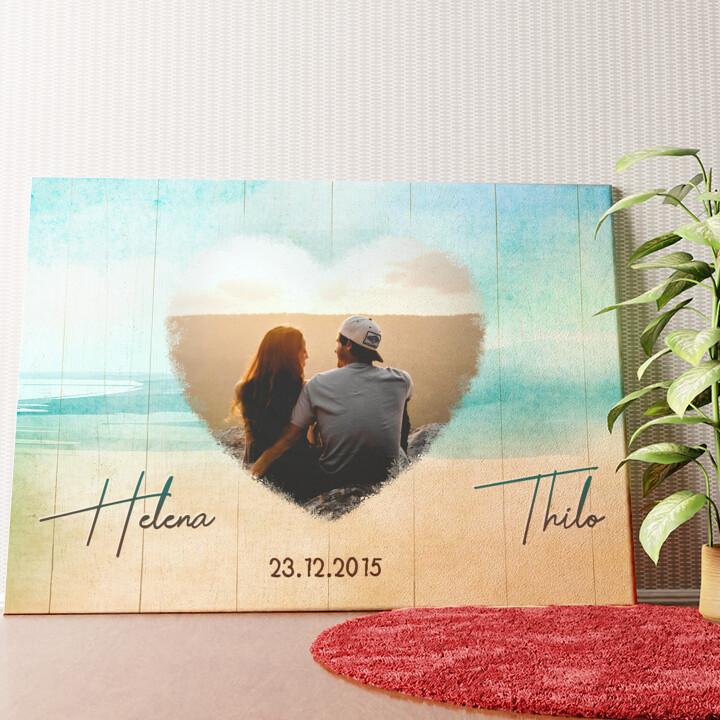 Personalisiertes Wandbild Strand der Liebe