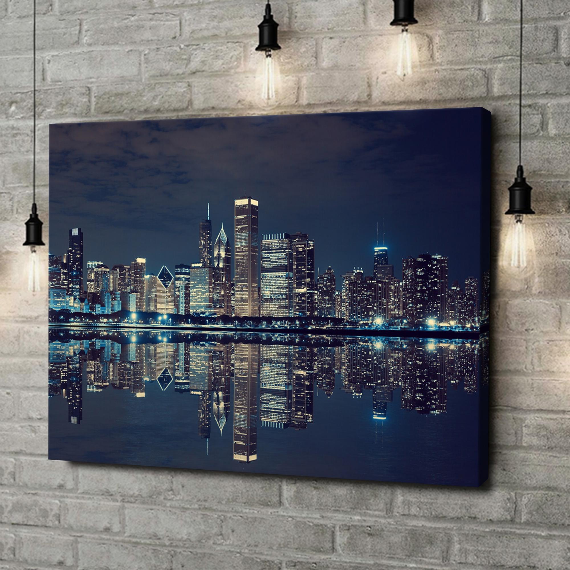 Leinwandbild personalisiert Chicago Skyline