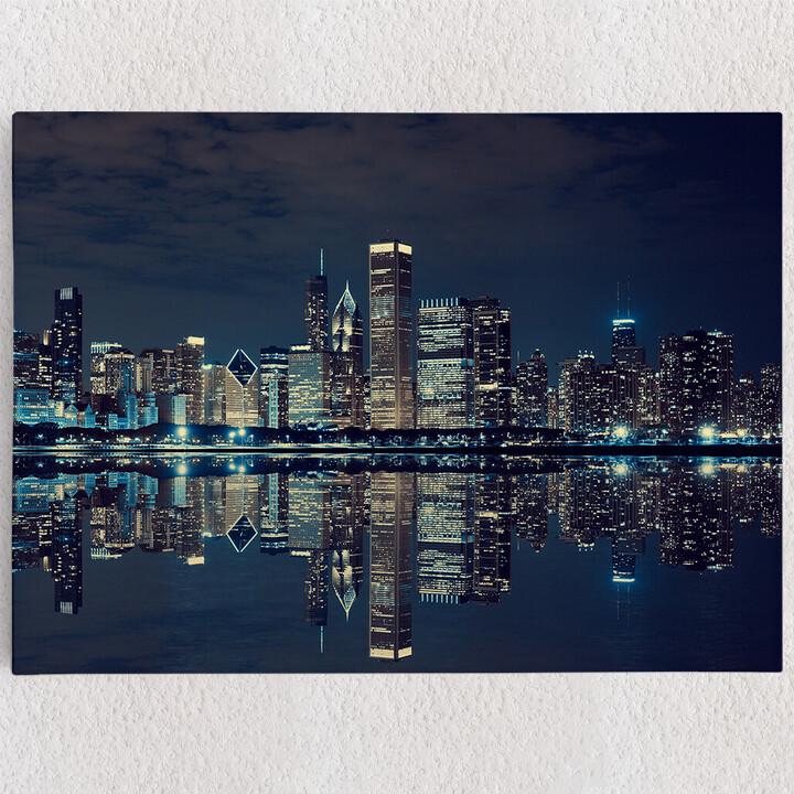 Personalisiertes Leinwandbild Chicago Skyline