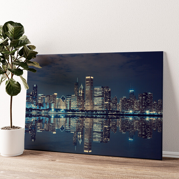 Chicago Skyline Wandbild personalisiert
