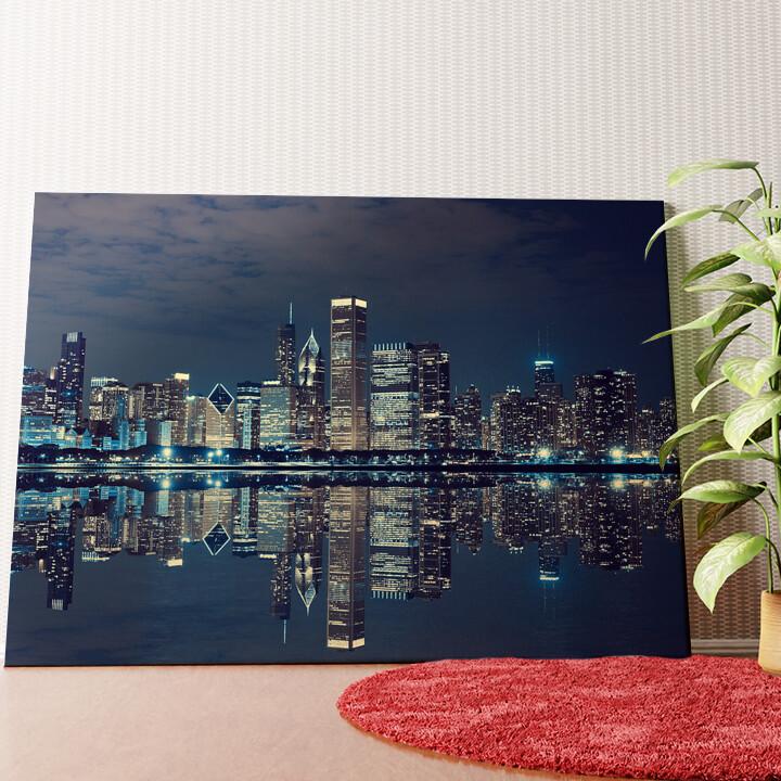 Personalisiertes Wandbild Chicago Skyline