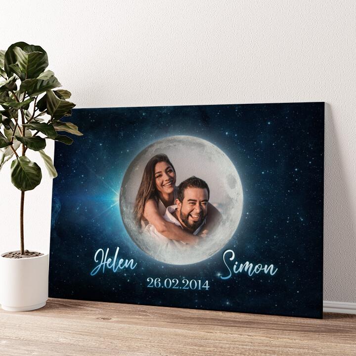 Mondschein Wandbild personalisiert