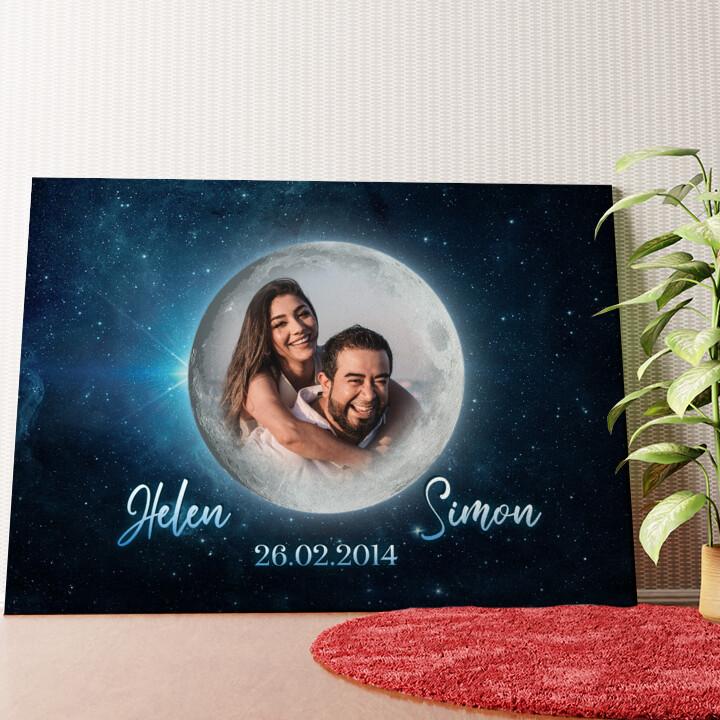 Personalisiertes Wandbild Mondschein