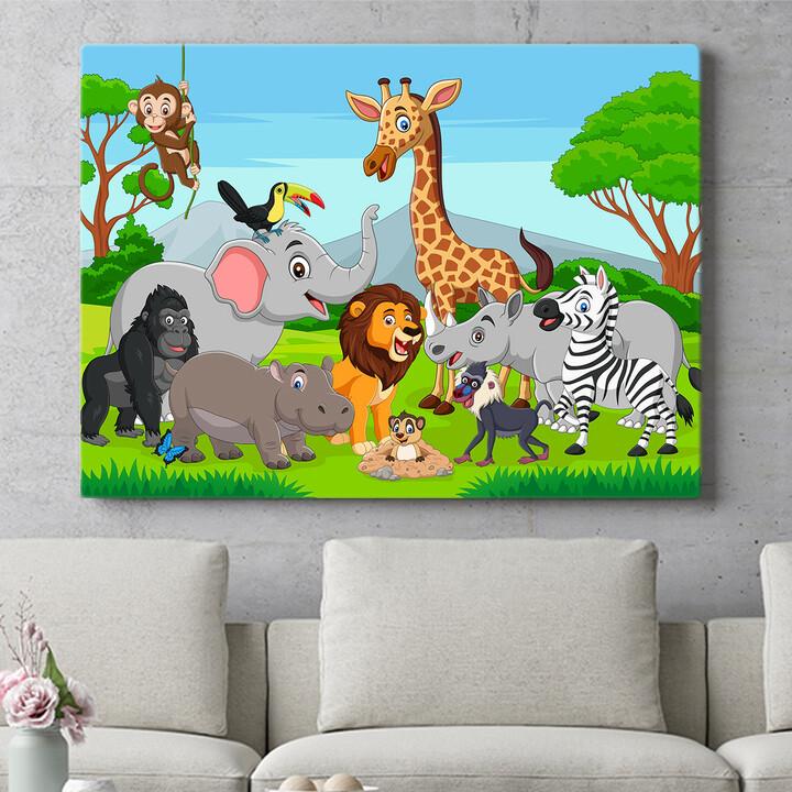 Personalisierbares Geschenk Cartoon Tiere
