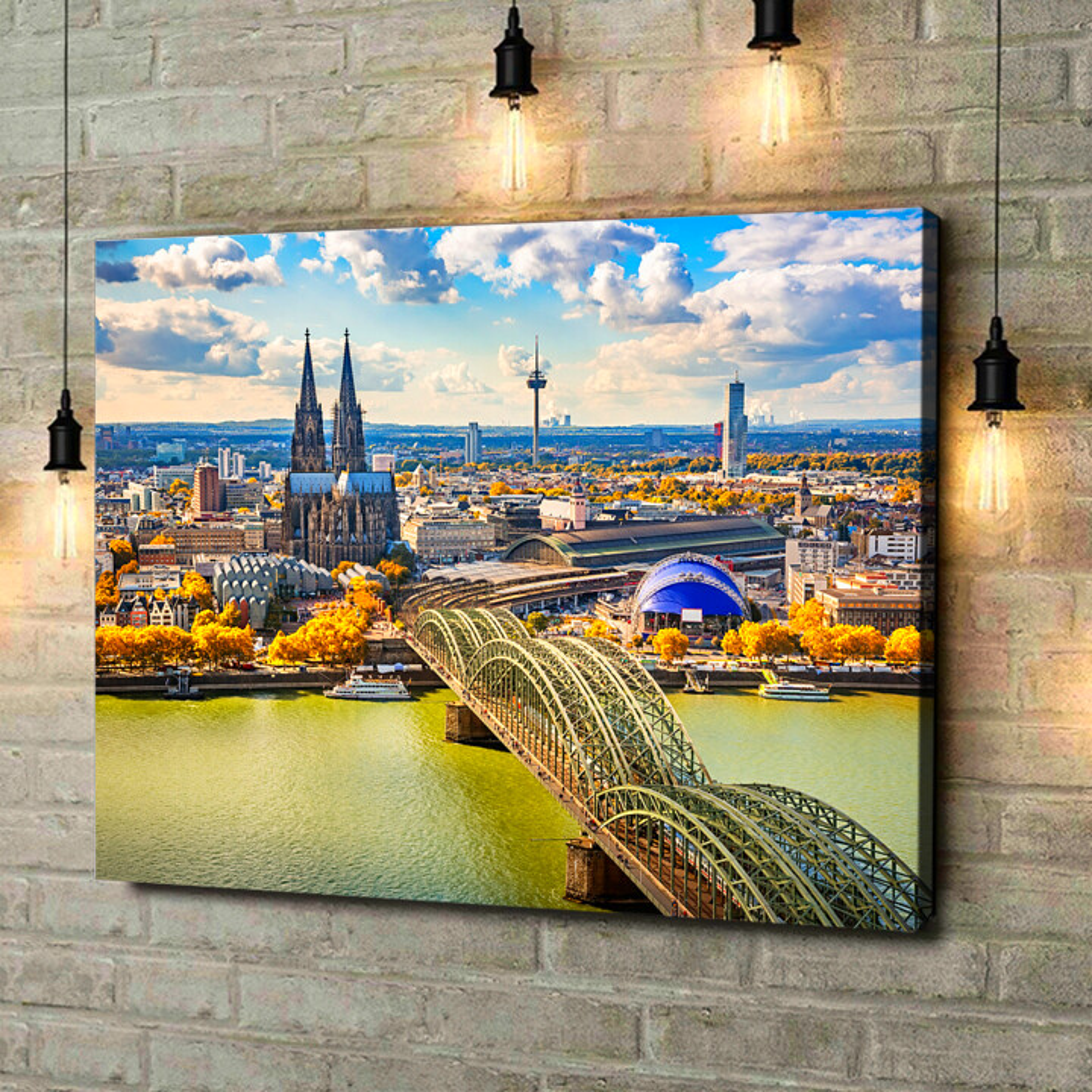 Leinwandbild personalisiert Skyline von Köln