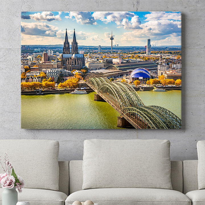 Personalisierbares Geschenk Skyline von Köln