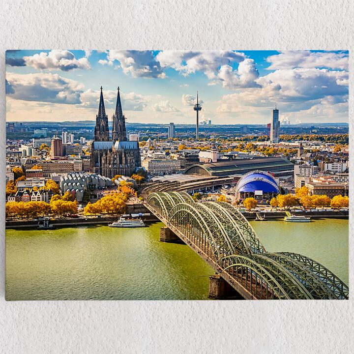 Personalisiertes Leinwandbild Skyline von Köln