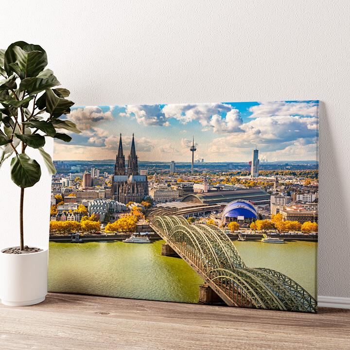 Skyline von Köln Wandbild personalisiert