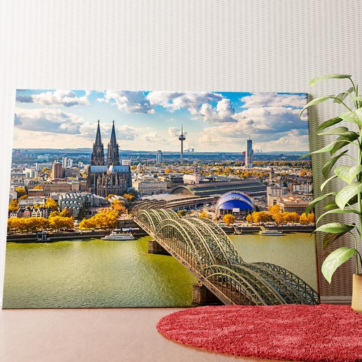 Personalisiertes Wandbild Skyline von Köln