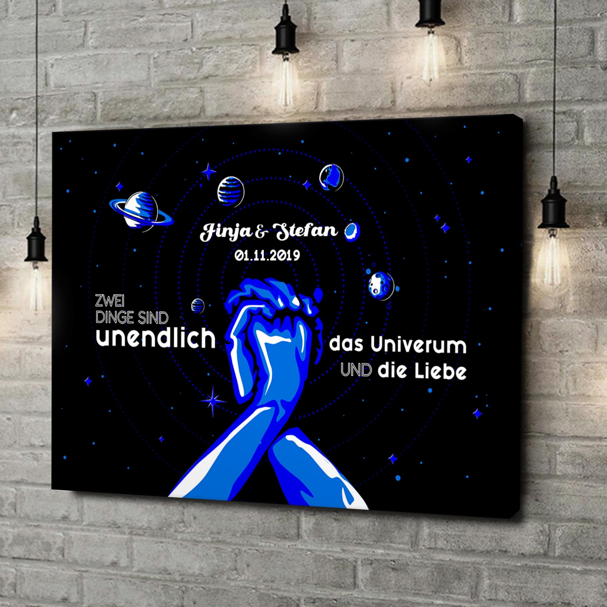Leinwandbild personalisiert Unser Universum