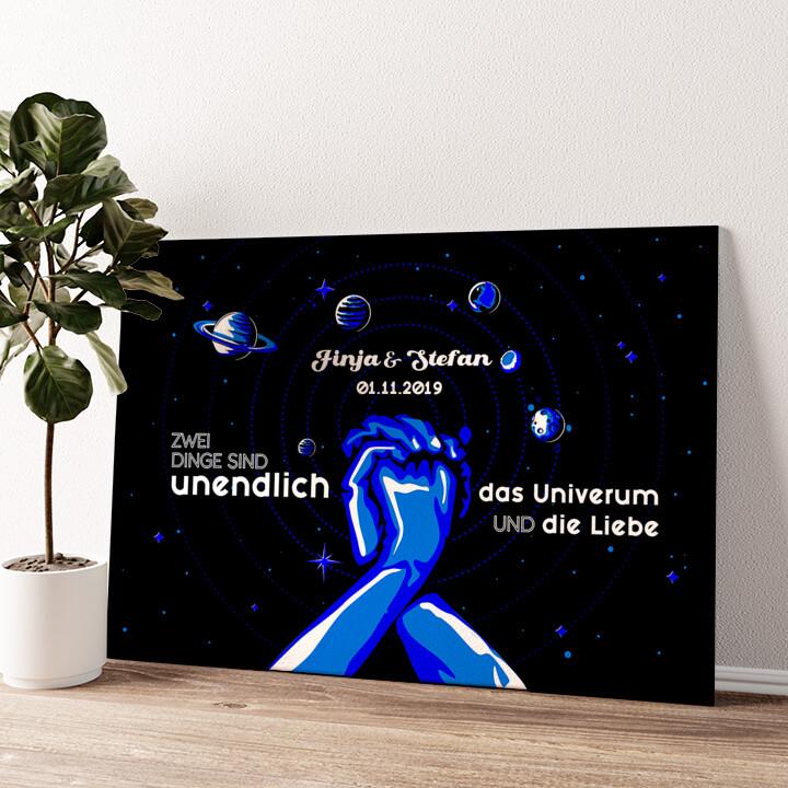 Unser Universum Wandbild personalisiert