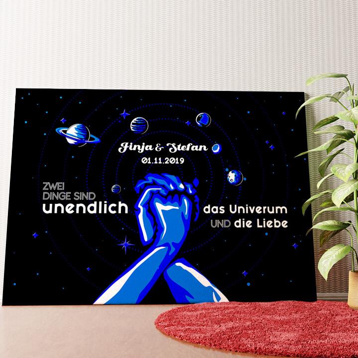 Personalisiertes Wandbild Unser Universum