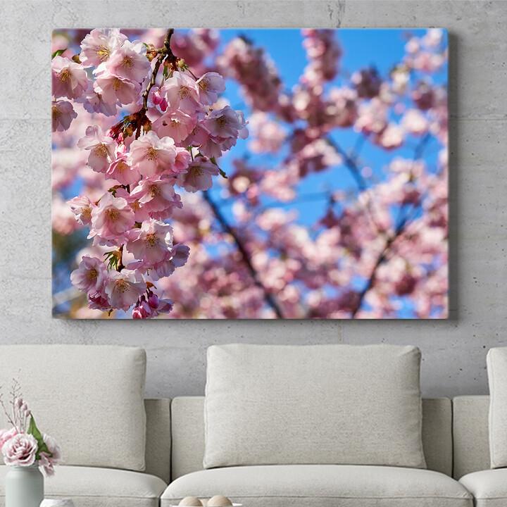 Personalisierbares Geschenk Kirschblüten