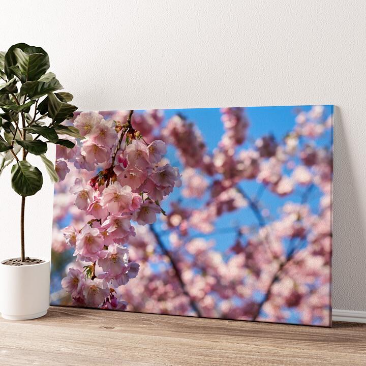 Kirschblüten Wandbild personalisiert
