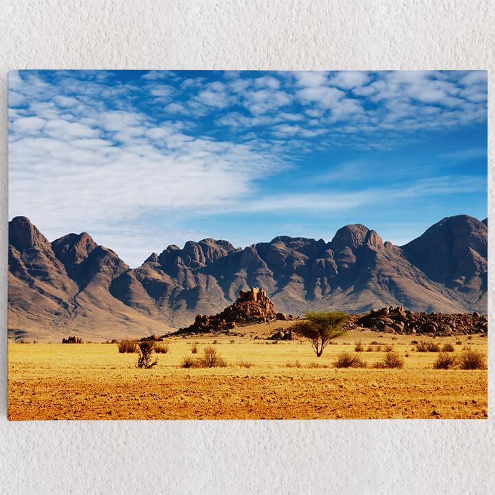 Personalisiertes Leinwandbild Namibia Wüste in Namibia
