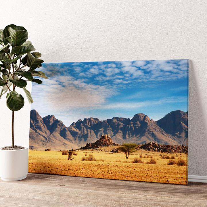 Namibia Wüste in Namibia Wandbild personalisiert