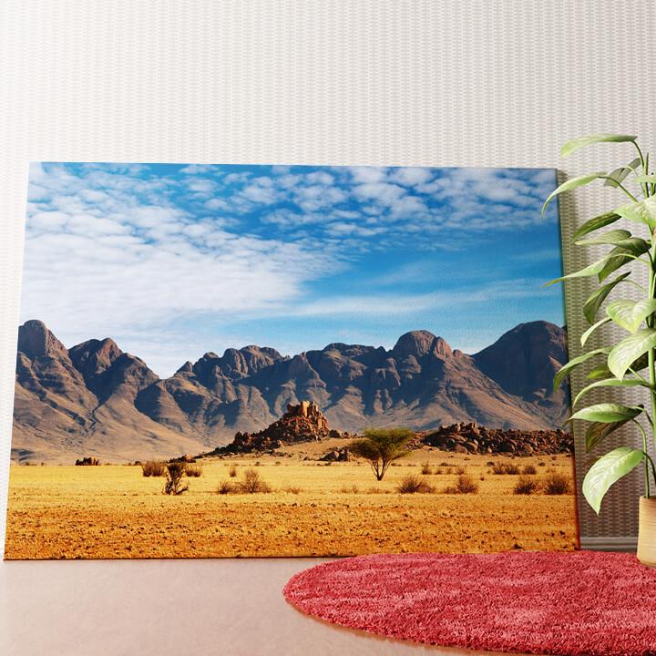 Personalisiertes Wandbild Namibia Wüste in Namibia