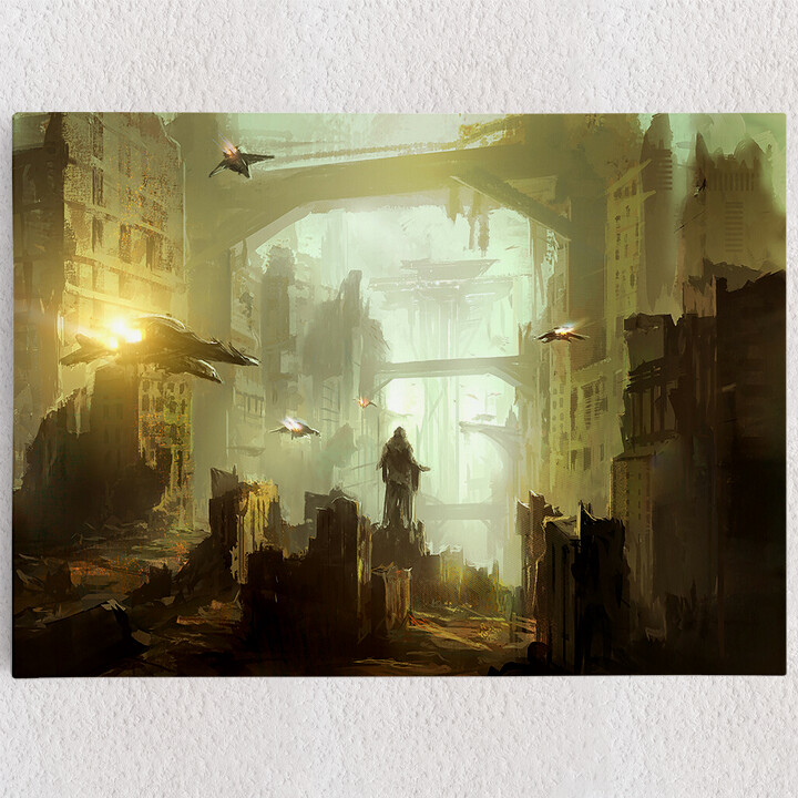 Personalisiertes Leinwandbild Fantasy Stadt