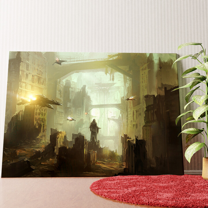 Personalisiertes Wandbild Fantasy Stadt