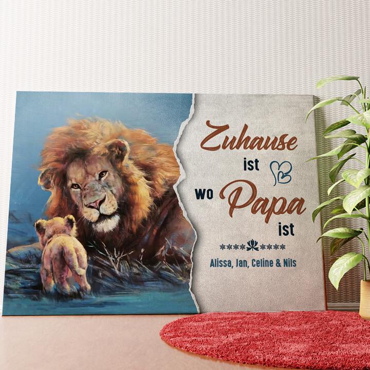 Personalisiertes Wandbild Mein Papa - Mein Zuhause