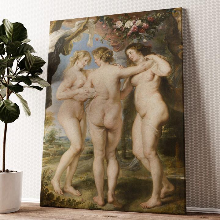 Die 3 Grazien Wandbild personalisiert