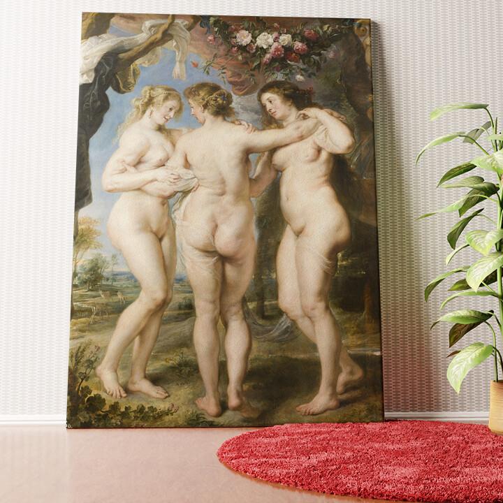 Personalisiertes Wandbild Die 3 Grazien