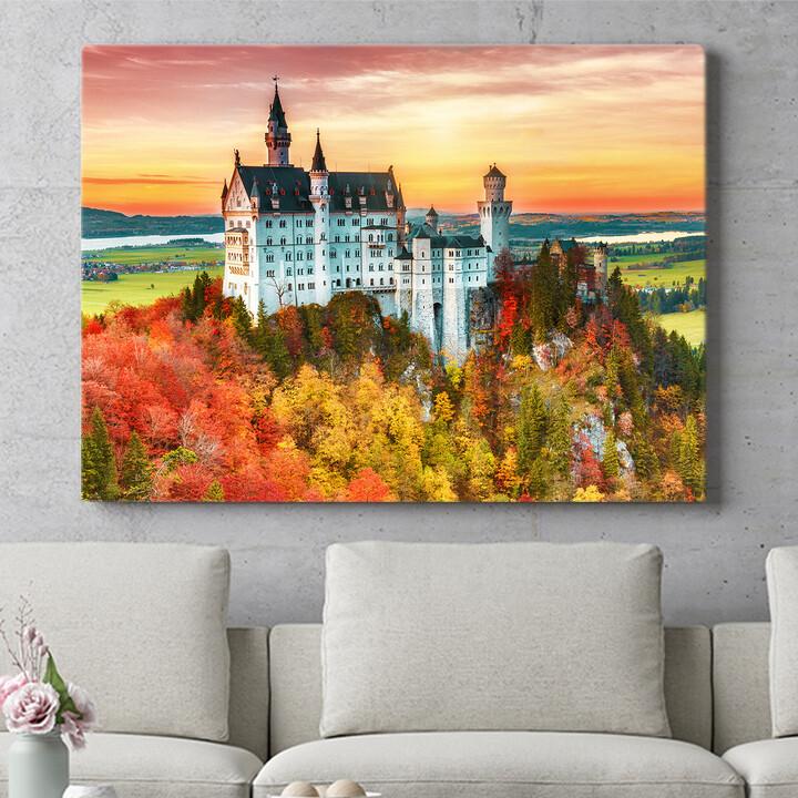 Personalisierbares Geschenk Schloss Neuschwanstein